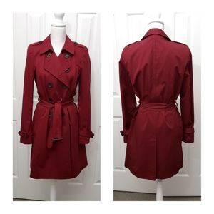 Gerard darel dark red trench coat 40 / 8